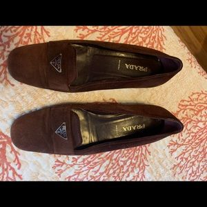 Prada suede loafer